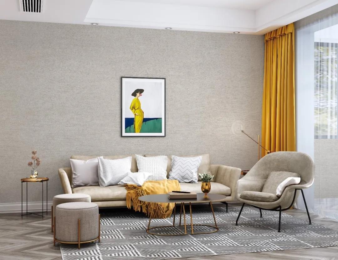 墙布沙发颜色这样搭,小家装出高级感!